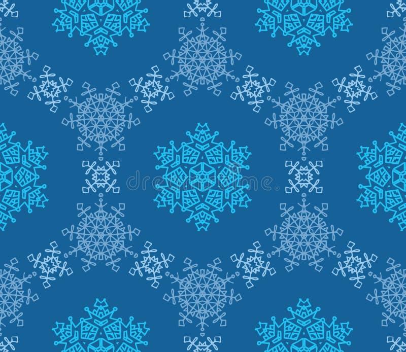 Schneeflocken auf einem blauen Hintergrund lizenzfreie stockfotografie