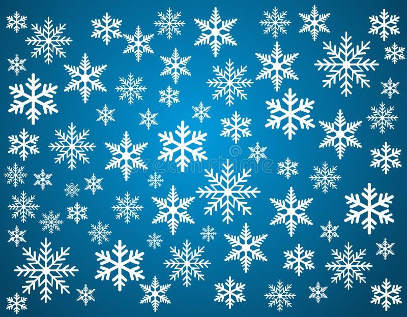 Schneeflocken eingestellt für Weihnachtsdesign lizenzfreie abbildung