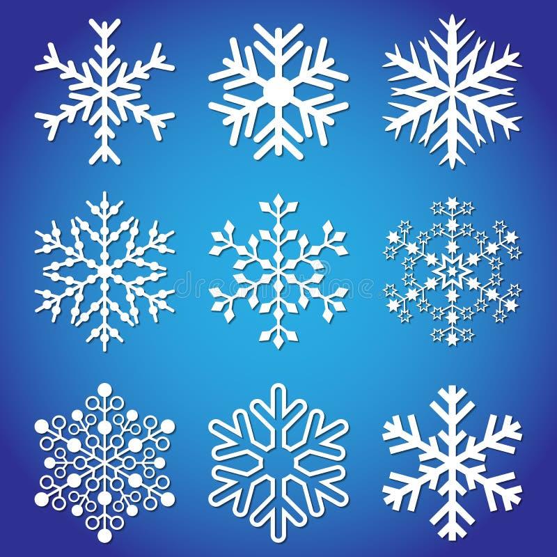 Schneeflocken für Auslegunggestaltungsarbeit stockbilder