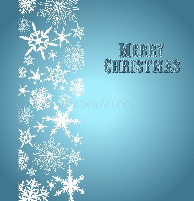 Schneeflocken-frohe Weihnacht-Karte stock abbildung