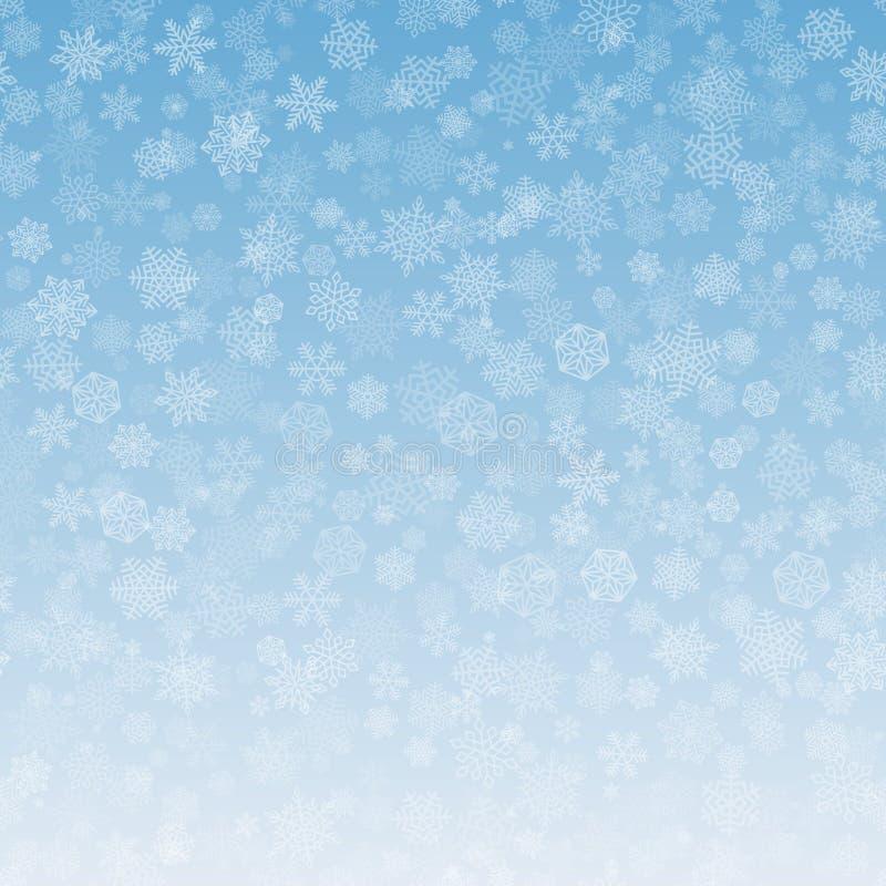 Schneeflocken-Hintergrund-Weihnachtssteigung stock abbildung