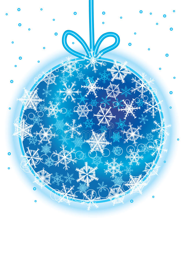 Schneeflocken um Weihnachten Ball_eps vektor abbildung