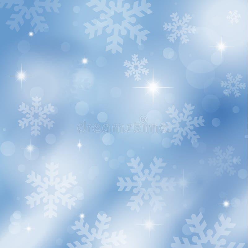 Schneeflocken und Sterne vektor abbildung