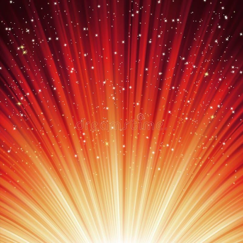 Schneeflocken und Sterne auf Pfadleuchte. ENV 8 lizenzfreie abbildung