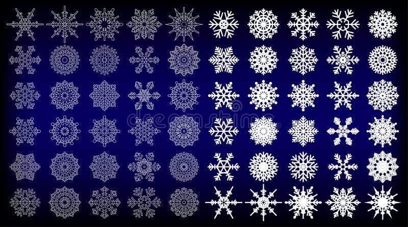 60 Schneeflocken-Vektoren für Sie Design vektor abbildung