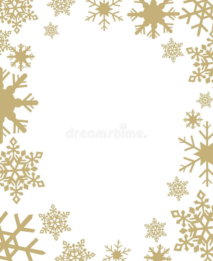 Schneeflocken-Vektorillustration stock abbildung