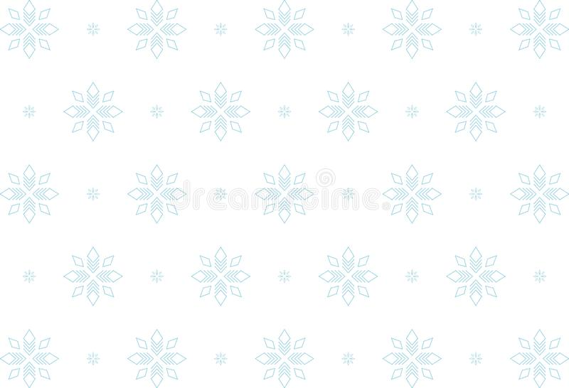 Schneeflocken-, weißes und Blaues, nahtlosesmuster, Zusammenfassung vektor abbildung
