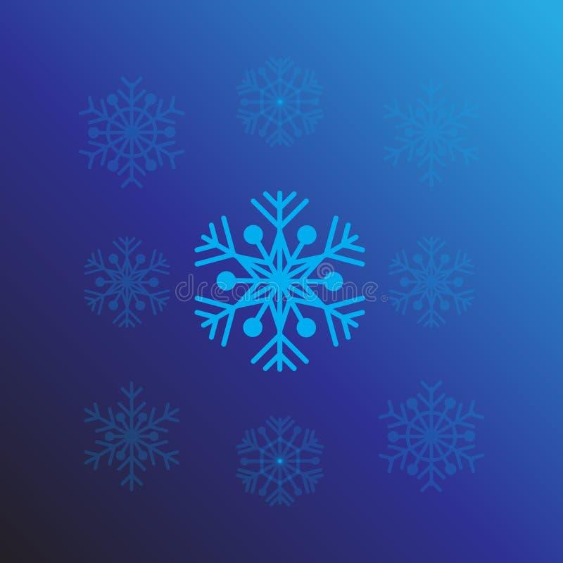Schneeflockenentwurfs-Hintergrundvektor für Weihnachten ENV 10 vektor abbildung
