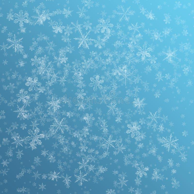 Schneeflockenhintergrund lizenzfreies stockbild