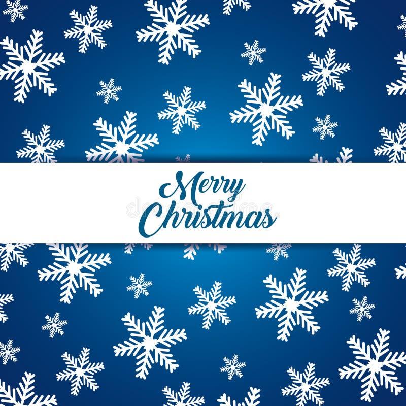 Schneeflockenhintergrund, zum von frohen Weihnachten zu feiern lizenzfreie abbildung