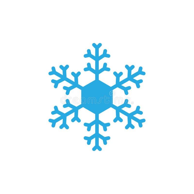 Schneeflockenikonenentwurfsschablonen-Vektorillustration lizenzfreie abbildung