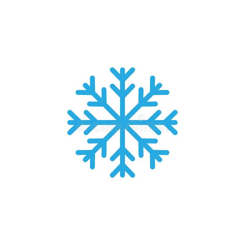 Schneeflockenikonengrafikdesign-Schablonenillustration vektor abbildung