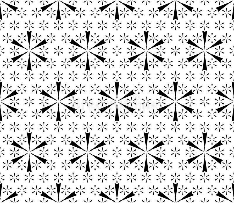 Schneeflockenmuster Geometrisches nahtloses mit Blumenmuster lizenzfreie abbildung