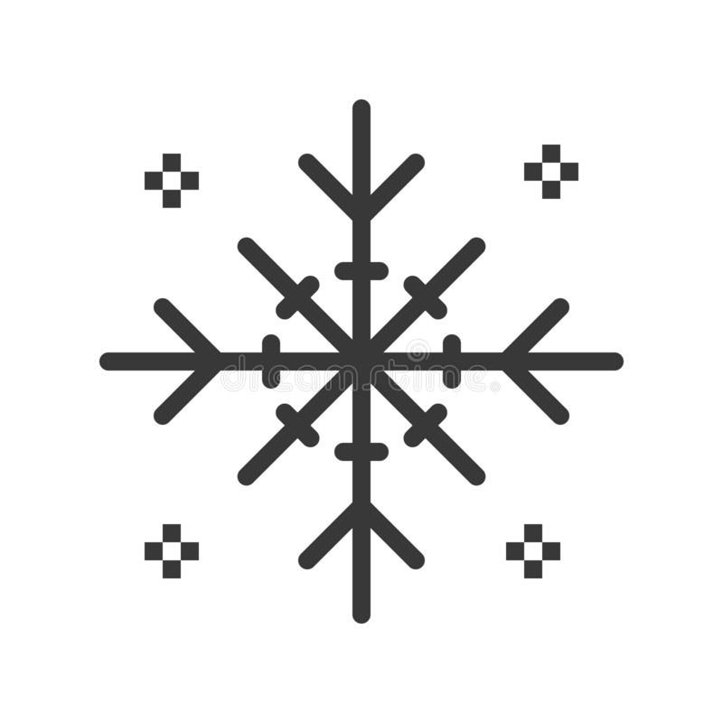 Schneeflockenvektor, Chirstmas bezog sich feste Artikone vektor abbildung