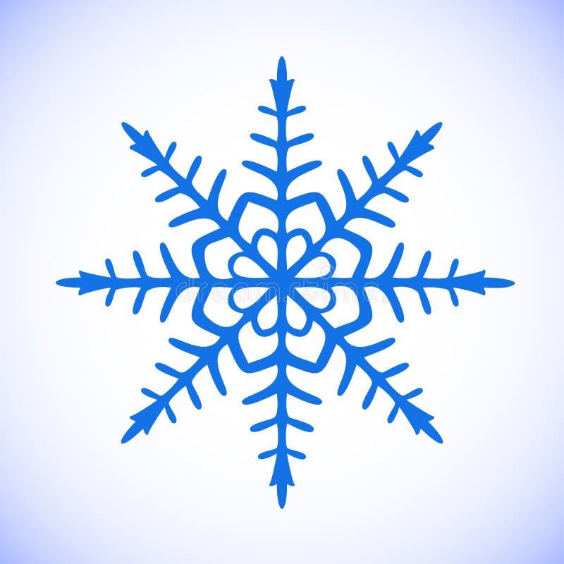 Schneeflockenvektor clipart stockfoto