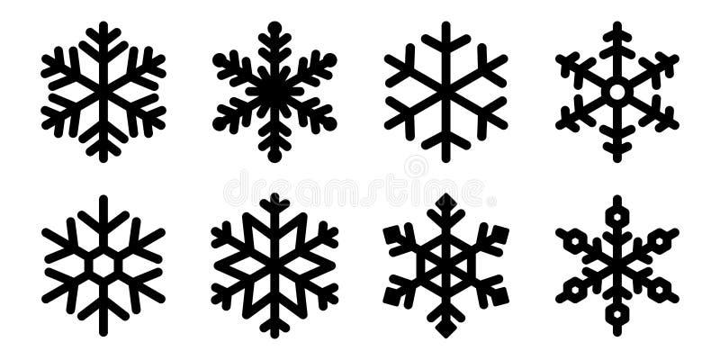 Schneeflockenvektor Weihnachtsikonenlogoschnee Santa Claus Xmas-Zeichentrickfilm-Figur-Illustrations-Symbolgraphik stock abbildung