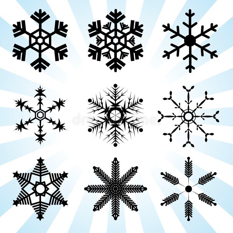 Schneeflockenveränderungs-Vektorkunst stock abbildung