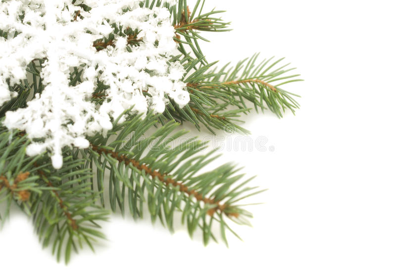 Schneeflockeverzierung auf einem Weihnachtsbaum stockfotos