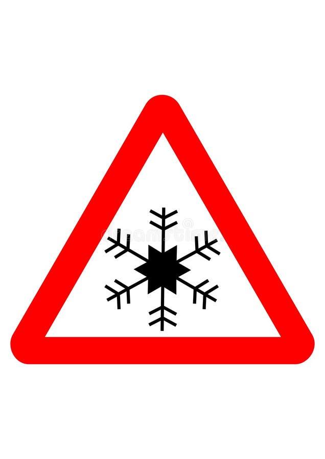 Schneeflockezeichen stock abbildung