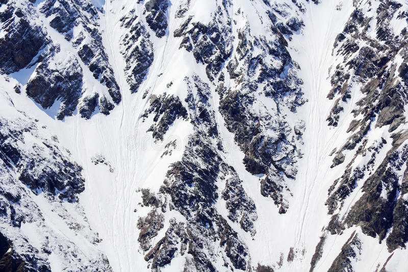 Schneegebirgsbeschaffenheit stockfotos