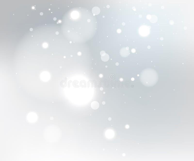 Schneegrauhintergrund stock abbildung