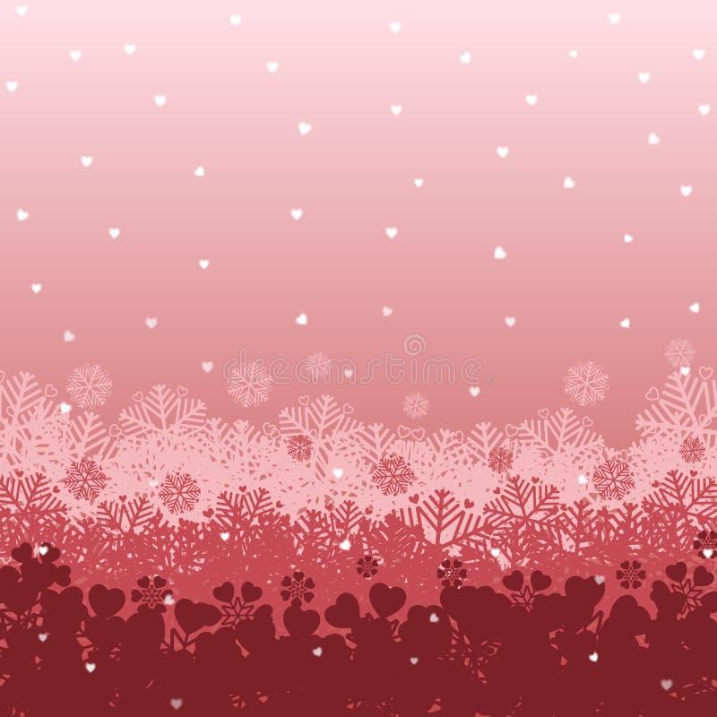 Schneeherzhintergrund Vervollkommnen Sie für Tapete, Packpapier lizenzfreie abbildung