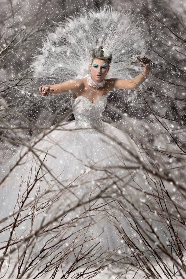 Schneekönigin stockbilder