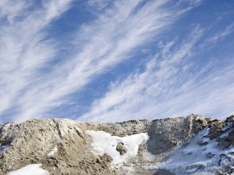 Schneeklippe lizenzfreie stockfotos