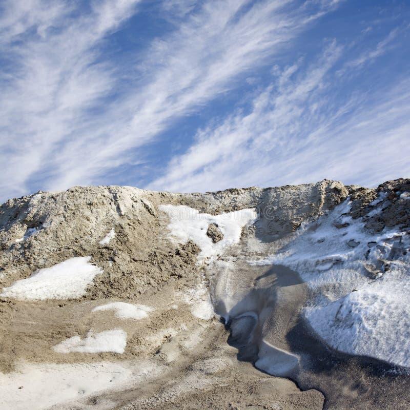 Schneeklippe lizenzfreie stockbilder
