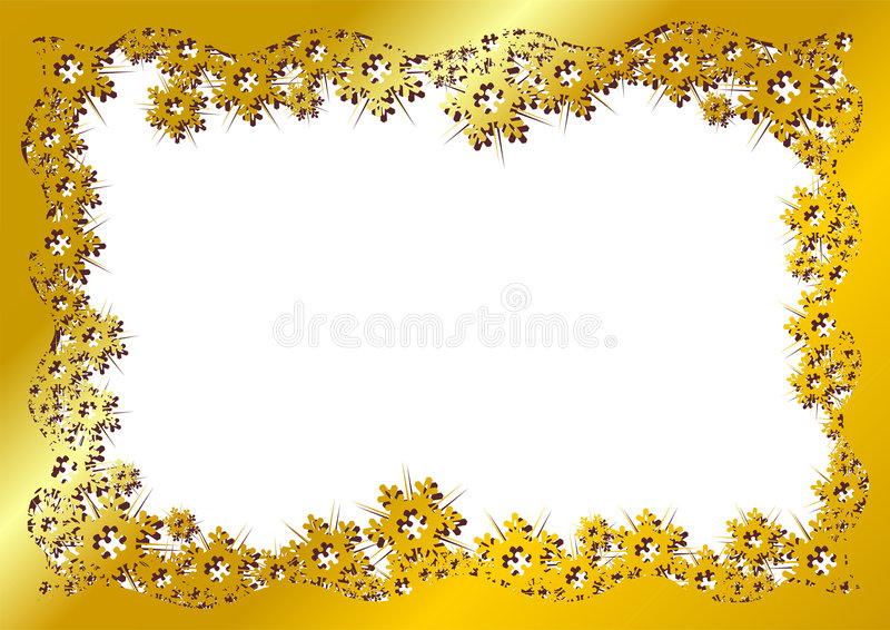 Schneekristall-Goldfeld vektor abbildung