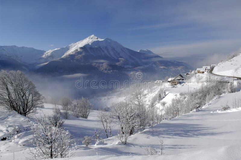 Schneelandschaft lizenzfreie stockbilder