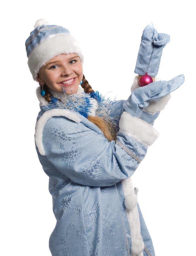 Schneemädchen lizenzfreie stockbilder