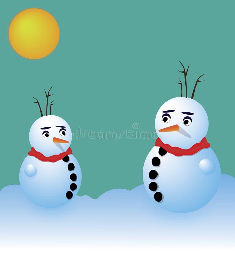 Schneemänner lizenzfreie stockfotografie