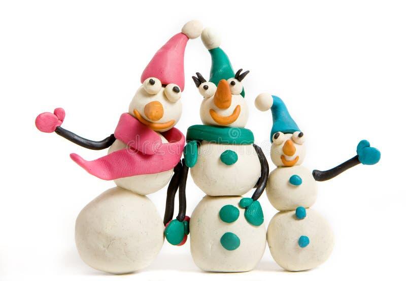 Schneemänner lizenzfreies stockfoto