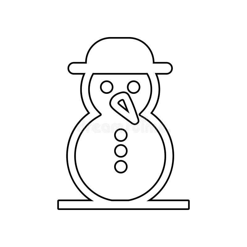 Schneemannikone Element des Winters f?r bewegliches Konzept und Netz Appsikone Entwurf, d?nne Linie Ikone f?r Websiteentwurf und  lizenzfreie abbildung