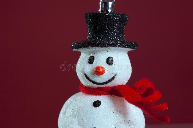 Schneemannweihnachtsdekoration stockbilder