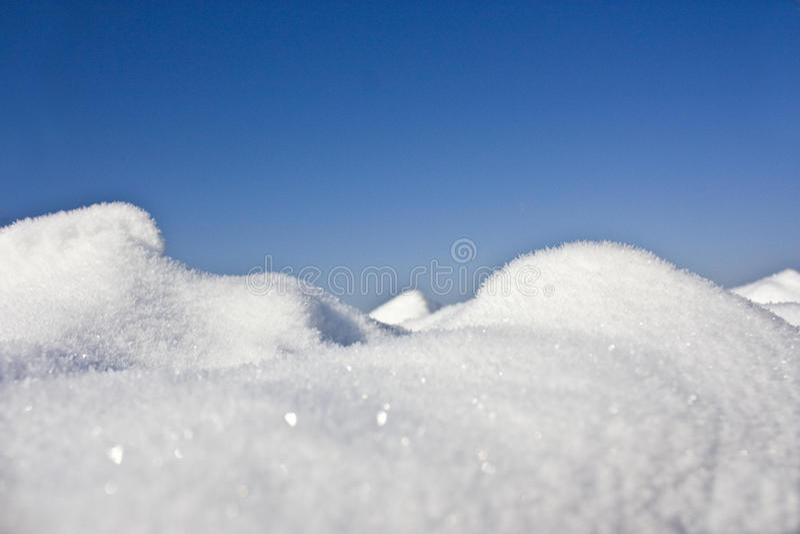 Schneenahaufnahme lizenzfreies stockbild