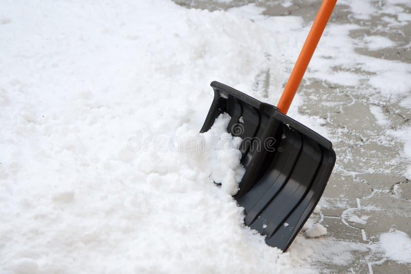Schneeschaufel stockbilder