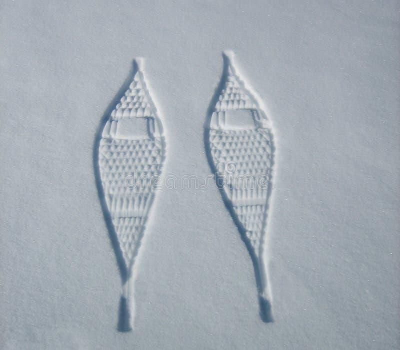 Schneeschuh-Drucke stockfotografie