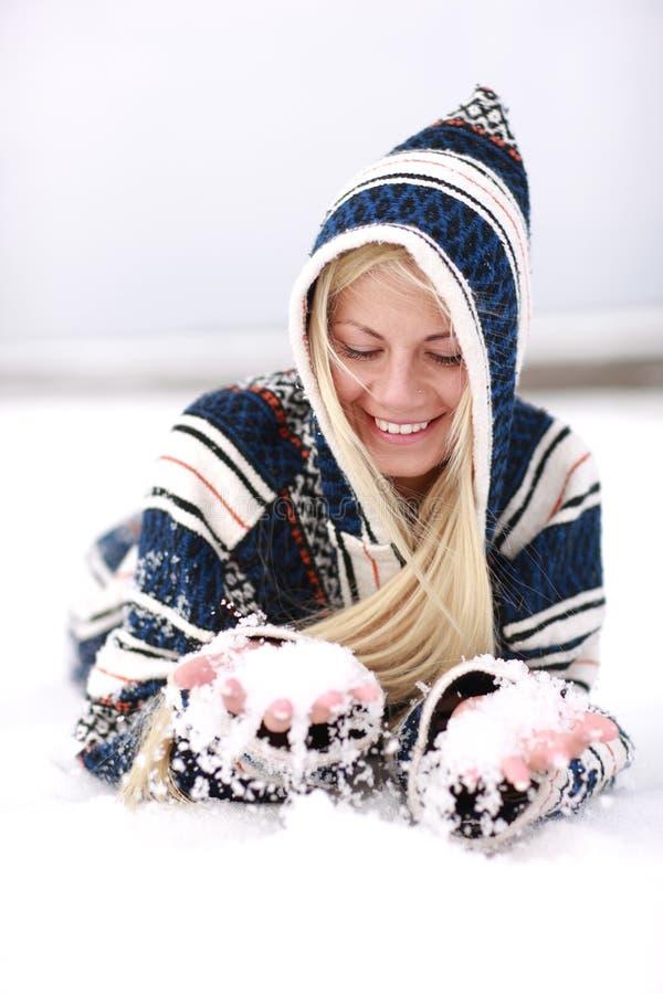 Schneespaß stockfotos