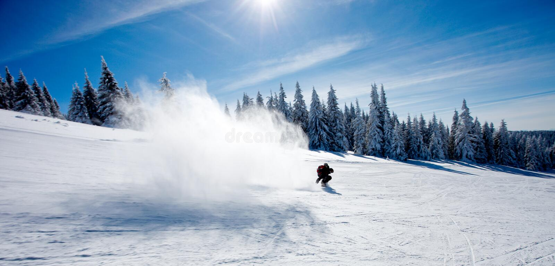 Schneespritzen lizenzfreies stockbild