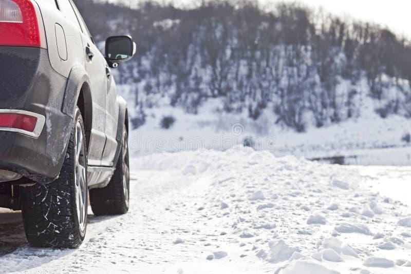 Schneestraße lizenzfreies stockfoto