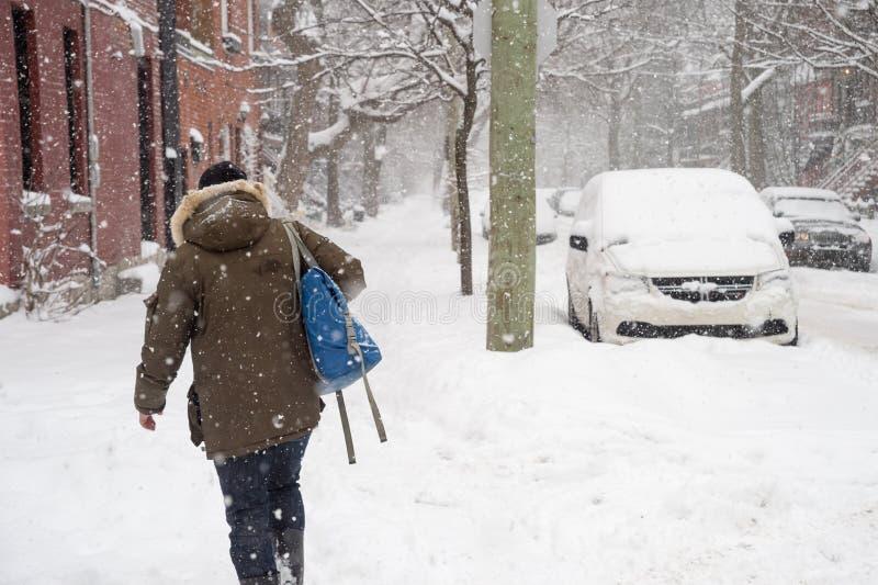 Schneesturm in Montreal lizenzfreies stockfoto