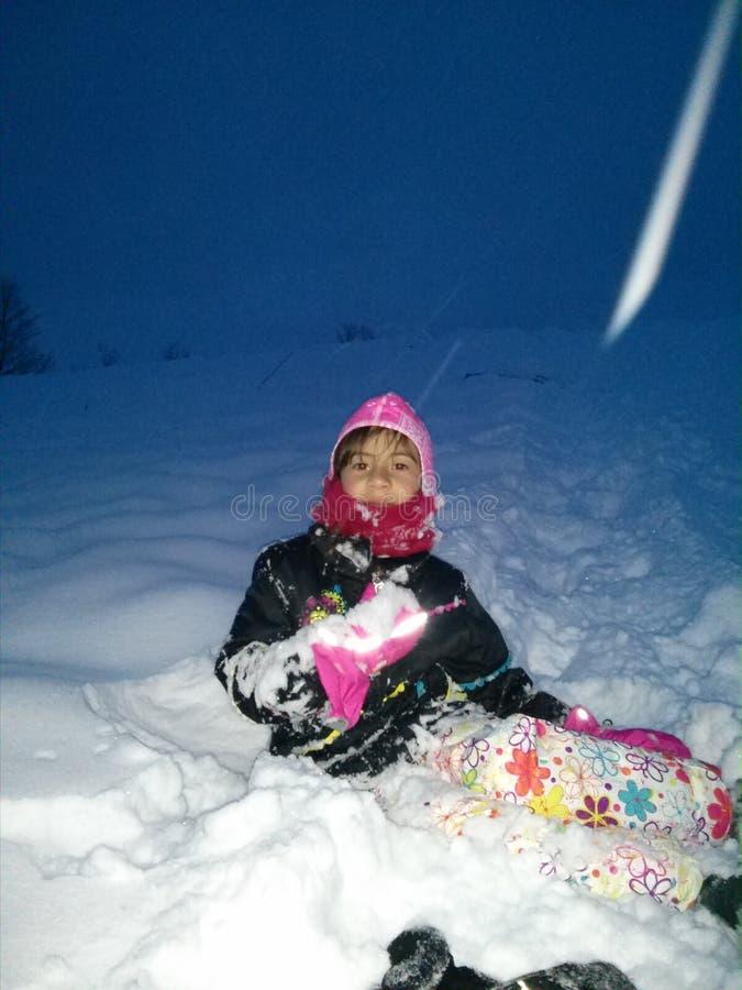 Schneetag lizenzfreies stockbild
