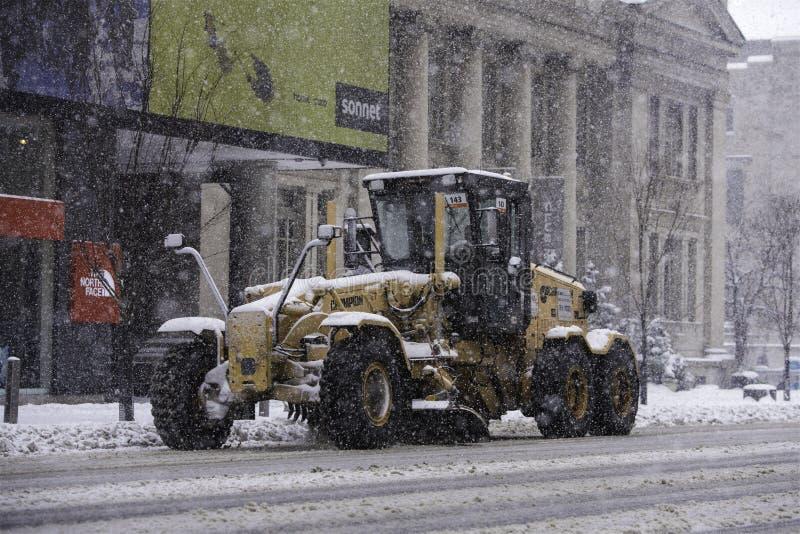 Schneetag in Toronto stockfotografie