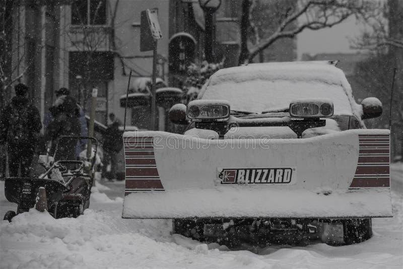 Schneetag in Toronto stockfoto
