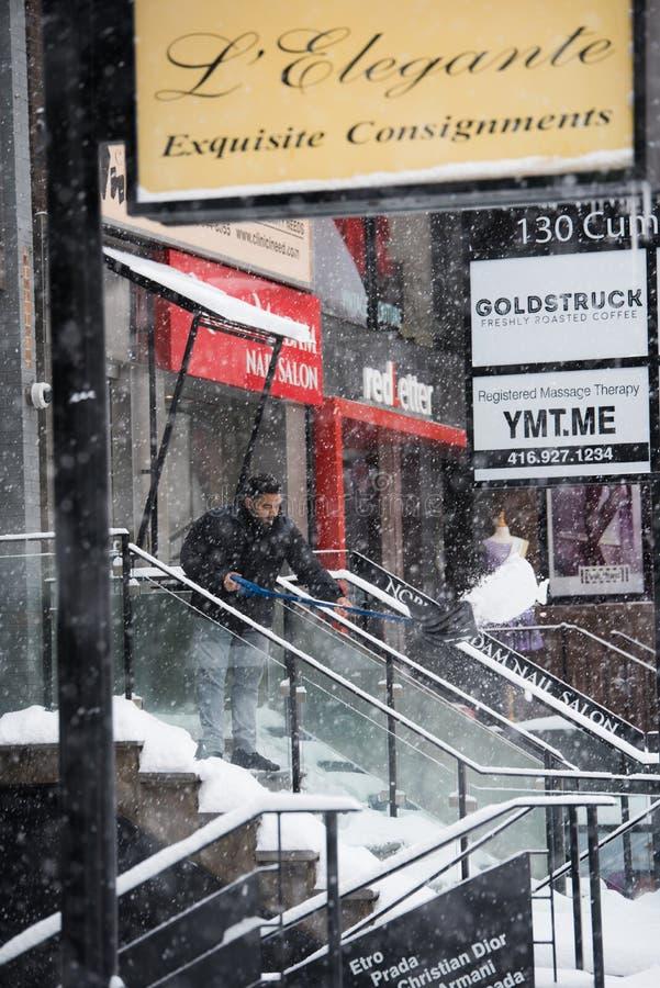 Schneetag in Toronto stockbilder