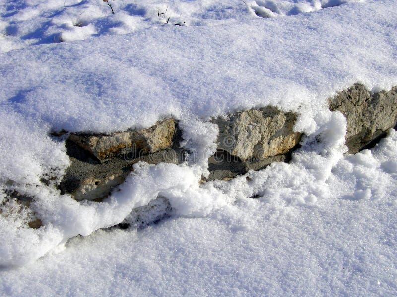 Schneewand lizenzfreie stockfotografie