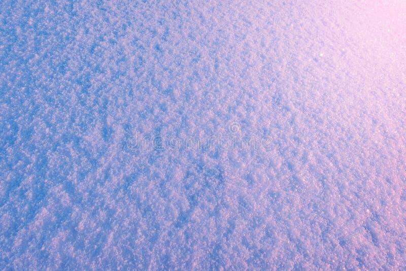 Schneewehenoberfläche am Morgen stockfoto