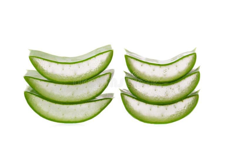 Schneiden Sie Aloe Vera eine sehr nützliche Kräutermedizin für Hautpflege und lizenzfreie stockbilder